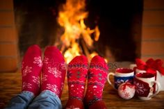 Download - Couple near fireplace — Stock Image #88487984