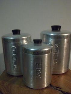 Vintage Everbrite Canister Set Stainless Steel by JunkyardElves, $28.00