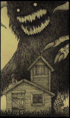 """Don Kenn """"Post-it note"""" monsters        http:// johnkenn.blogspot.com/    #illustration"""