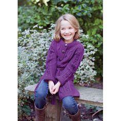 Livia Child's Cardigan in MillaMia Naturally Soft Merino | Knitting Patterns | LoveKnitting