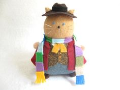 Doctor Who 4th Doctor Pincushion Cat cute felt by FatCatCrafts, $20.00