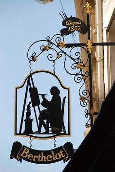 Art shop sign, Paris France by p'titesmith12, via Flickr #art #shop #travel #silhouette #sign #europe