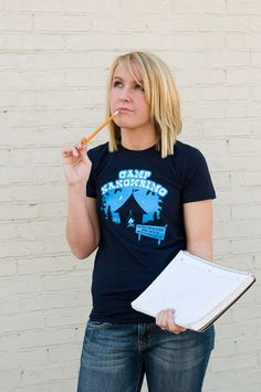"""""""Camp NaNoWriMo"""" T-Shirt   National Novel Writing Month Donation Station and Store"""