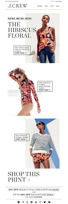 #newsletter J.Crew 06.2014 This print is (on) everything