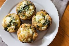 Kale and Goat Cheese Fritatta Cups. Good eggy breakfast on the go. Next time I might try to mix the goat cheese up in it so the cheese gets spread out. I used spinach since they were out of kale at the store. Overall a solid little breakfast treat.