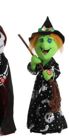 """RAZ 15"""" Animated Musical Witch - H3123252 Halloween Skeleton Decorations, Halloween Skeletons, St Pierre And Miquelon, Witch Decor, Frankenstein, Musicals, Animation, Seasons, Things To Sell"""