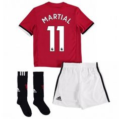 Manchester United Anthony Martial 11 kläder Barn 17-18 Hemmatröja Kortärmad  #Billiga fotbollströjor Anthony Martial, Marcus Rashford, Manchester United, Sock Shop, Short Socks, Jersey Shorts, Full Set, Youth, The Unit