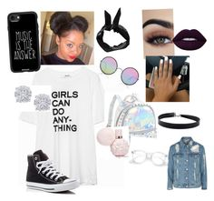"""Untitled #160"" by tytiana-ransom on Polyvore featuring Converse, Bari Lynn, Sunday Somewhere, Boohoo, Casetify, Effy Jewelry and Topshop"
