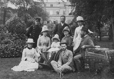 From left: Pss Irene of Hesse and by Rhine; Prince Ernst Ludwig of Hesse and by…