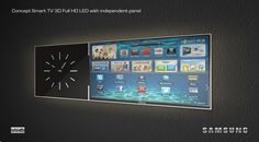 Concept Smart TV with independent panel