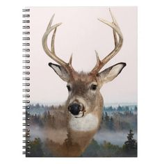 Whitetail Deer Double Exposure Notebook