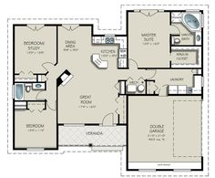 This is a possibility BUT I need to know how big this closet is! Plan 427-5  1550 sq ft  3 beds  2.00 baths