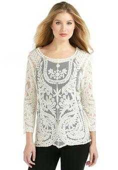Cato Fashions Embroidered Lace Top - Plus #CatoFashions