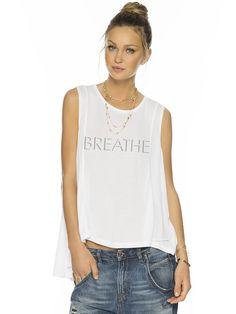 Breathe White Karina Fashion Tank