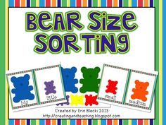 Bear Size Sorting (free)