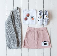 Urban Outfitters Summer Pink Corduroy A-line Skirt