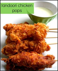 Indian Street Food: Tandoori Chicken Pops-perfect as you can control portion sizes and minimize wastage. My type of cooking.