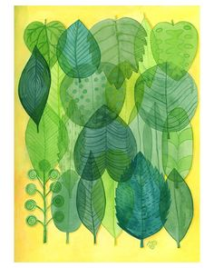 ©2016MarianaOppel My tropical illustrations are coming along. #leaves #tropical #illustrations #marianaoppel #illustrator #translucent #tropicallife #green #yellow @marianaoppel
