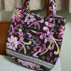 Vera Bradley Purple Punch Bucket Tote Purse Bag  #VeraBradley #Totes
