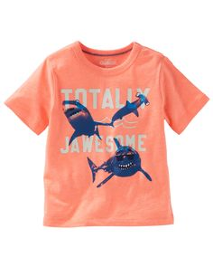 Baby Boy Glow-In-The-Dark Shark Tee from OshKosh B'gosh. Shop clothing & accessories from a trusted name in kids, toddlers, and baby clothes.
