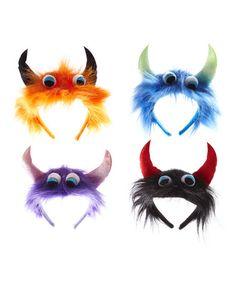 Another great find on #zulily! Monster Headband - Set of Eight #zulilyfinds