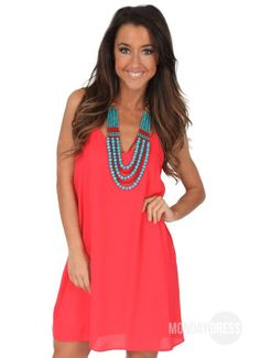 Easy Love Dress in Tomato Red | Monday Dress Boutique