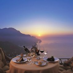 A candle lit dinner for two on the Amalfi Coast at the Belmond Caruso Hotel in Ravello Italy. Oh The Places You'll Go, Places To Travel, Places To Visit, Dream Vacations, Vacation Spots, Honeymoon Vacations, Photos Voyages, Amalfi Coast, Luxury Travel