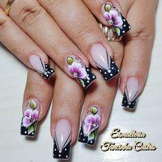 French Manicure Nails, Nail Games, Nail Art Designs, Hair Makeup, Nail Polish, Make Up, Close Up, Instagram Posts, Diana