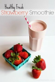 Healthy Fresh Strawberry Smoothie | FOODIEaholic.com #recipe #cooking #smoothie #blendtec #strawberry