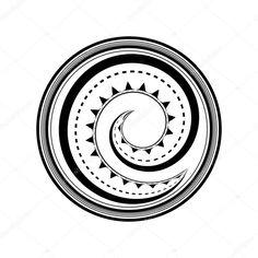 Herunterladen - Polynesisches Tattoo-design — Stockillustration #70143407