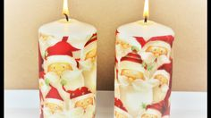 Decoupage Christmas Candle - Fast & Easy Tutorial - DIY