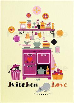 Poster Küchenliebe