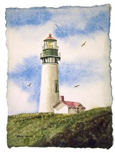 Yaquina Head light - Original Fine Art for Sale - © Andy Sewell