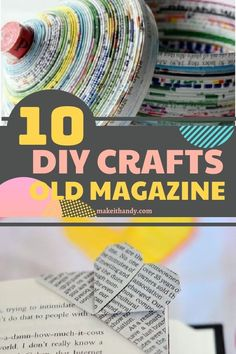 If you've got a few in your home, turn them into something beautiful! I've gathered together some of my favorite projects made out of magazines to get you started. Have fun crafting! #diycrafts #craftideas #oldmagazine