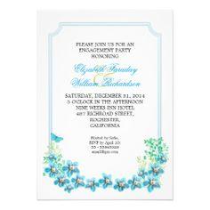 engagement party beautiful invitation