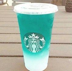 gambar starbucks, drink, and blue