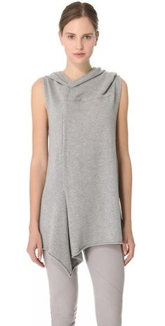 Donna Karan New York Sleeveless Hooded Tunic | SHOPBOP