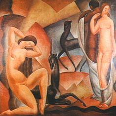 Figuras ca. 1920 | Antonio Gomide Óleo sobre tela 210.00 x 195.00 cm