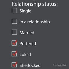 my relationship status - Accurate.