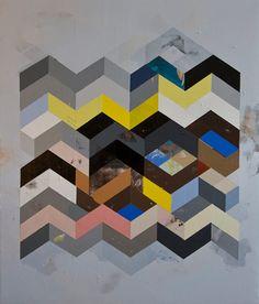 Jeff Depner Print Reconfigured Grid Painting No. 15 by Jeff Depner on Little Paper Planes Smart Art, Geometric Art, Geometric Patterns, Land Art, Contemporary Paintings, Design Art, Graphic Design, Book Design, Art Forms