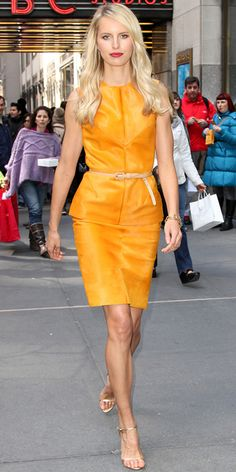 Karolina  Kurkova in Karolina Zmarlak and Edmundo Castillo sandals outside of NBC Studios 3.29.13