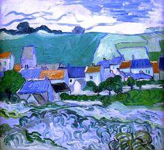 Van Gogh, View of Auvers, May-June 1890.