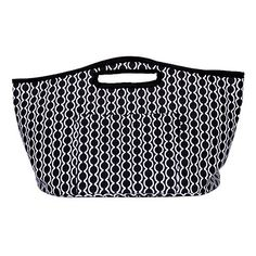 Mainstreet Collection Insulated Beverage Bucket Prim & Preppy (Black & White Semicircle Design)