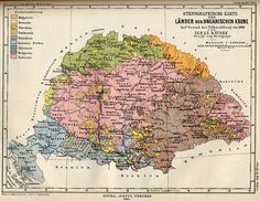An 1880 ethno-linguistic map of the Kingdom of Hungary, including Slovakia (considered Northern Hungary) to the very north, in green.  Ruthenians/Rusyns/Ukrainians are at the top right in orange.
