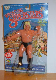 "VINTAGE WWF WRESTLING SUPERSTARS GREG VALENTINE ACTION FIGURE MOC LJN 8"" 1985 #LJN Wwf Superstars, Wrestling Superstars, Wrestling Posters, Wrestling Wwe, Weird Toys, Cool Toys, Wwf Toys, Greg Valentine, 1990s Toys"