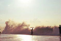 Waves in Hawaii.