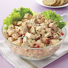 The Best Chicken Salad. cut the cinnimon and add dried cherries and THEN you have the best chicken salad! Chipotle Chicken Salad Recipe, Chicken Salad Recipes, Chicken Salads, Chicken Pickle, Avocado Chicken, Recipe Chicken, Yum Yum Chicken, Grilled Chicken, Sauces