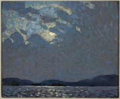 Moonlight Over Canoe Lake (Alternate titles: Moonlight; Moonlight on Canoe Lake), 1916 by Tom Thomson on Curiator, the world's biggest collaborative art collection. Group Of Seven Art, Group Of Seven Paintings, Paintings I Love, Oil Paintings, Emily Carr, Canadian Painters, Canadian Artists, Nocturne, Landscape Art