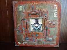 Butterfly Man Rusty Canvas-This is a great tut that uses DecoArt Mediums:modeling paste,texture sand paste,liquid glass,and antiquing creams.