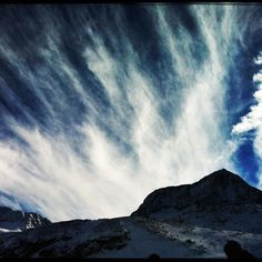 Ski trip to Austria. What a sky!